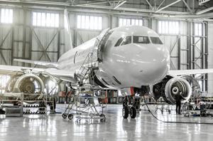 large-jet-airplane-in-hanger