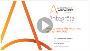 AA and Integratz partner up with new rpa poc webinar